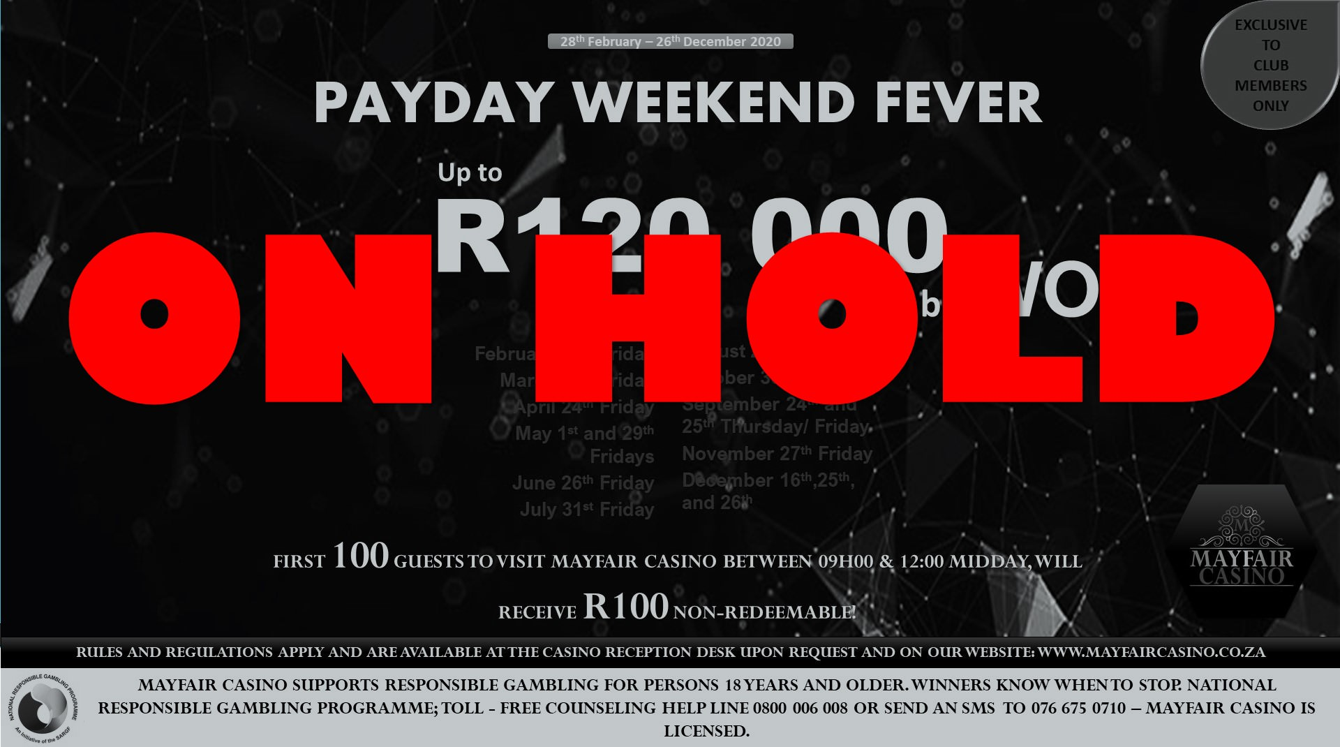 Payday Weekend Fever Promo