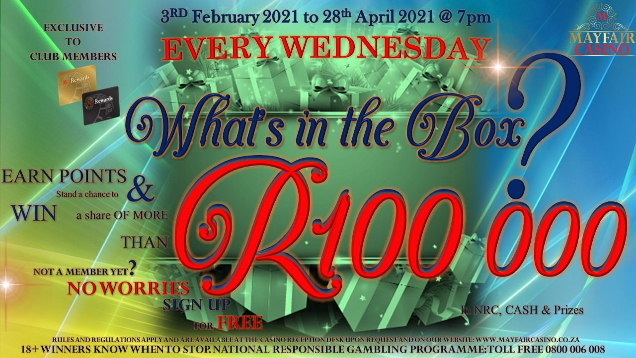 Whats in the box | Mayfair Casino
