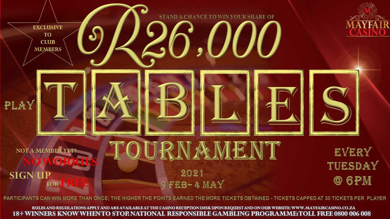 Tables Tournament | Mayfair Casino