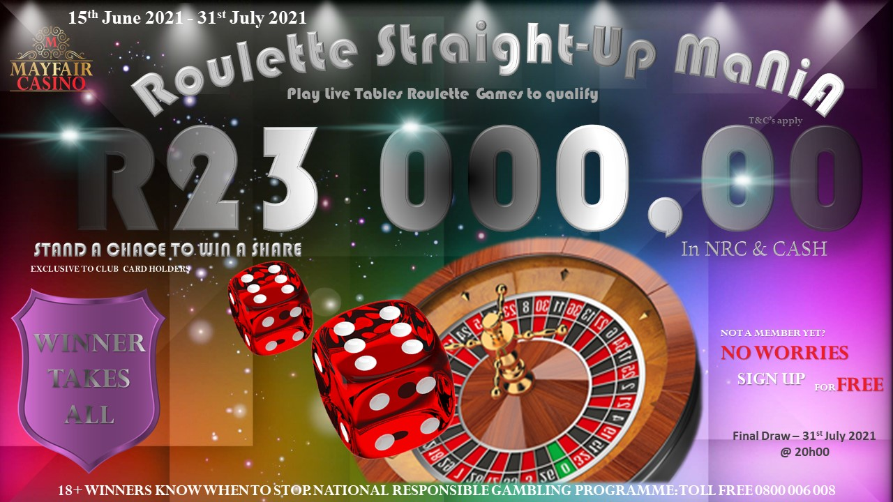 """Roulette Straight-Up Mania """"Winner Takes All"""""""